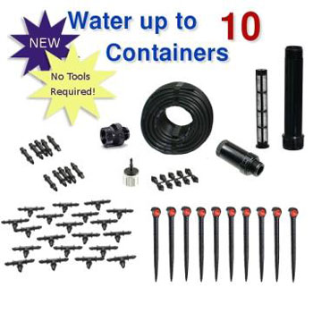 Container Gardening Drip Irrigation Kit